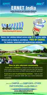 """ERNET Launching/ Introducing eduroam services in India. """"One World oneconnectivity"""""""